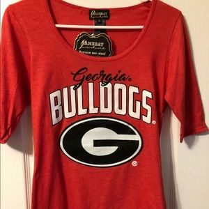 NWT Gameday Couture Women's Georgia Bulldog Tee